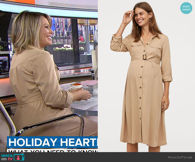 Mama Shirt Dress by H&M worn by Dylan Dreyer  on Today
