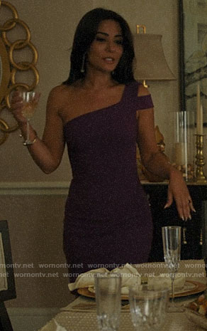 Hermione's purple one-shoulder dress on Riverdale