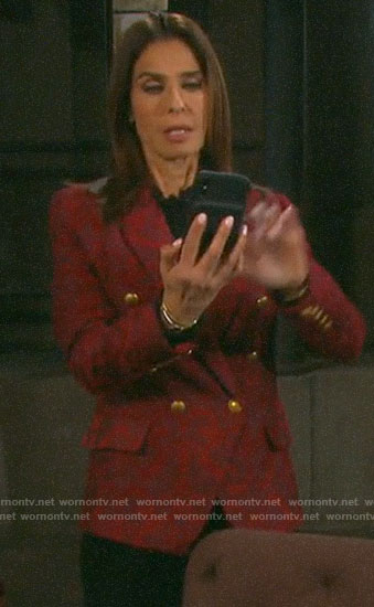 Hope's red double breasted blazer on Days of our Lives