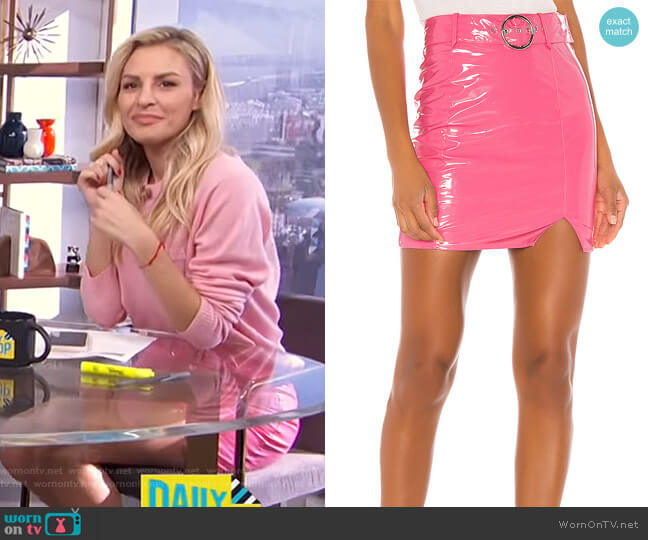 Peppa Mini Skirt by h:ours worn by Morgan Stewart  on E! News