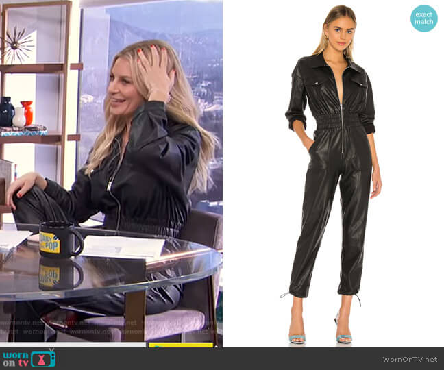 Vee Jumpsuit by h:ours worn by Morgan Stewart  on E! News