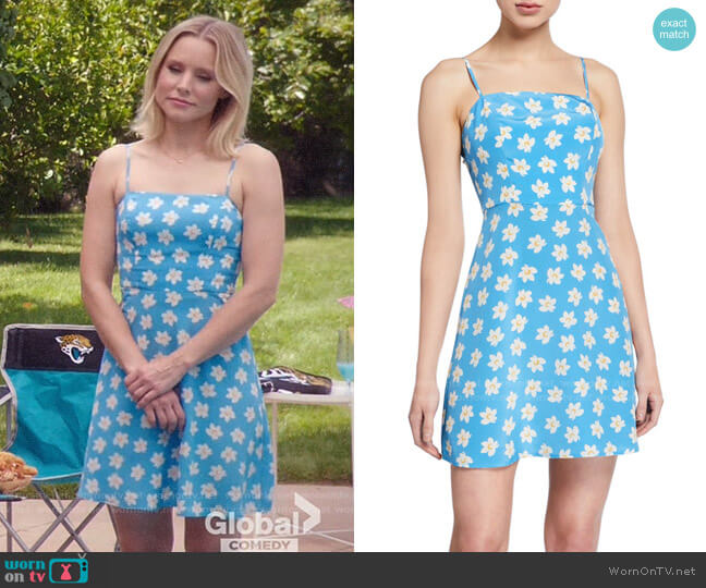 HVN Nora Floral Dress worn by Eleanor Shellstrop (Kristen Bell) on The Good Place