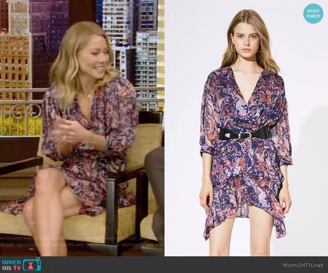 Rahue Dress by Iro worn by Kelly Ripa  on Live with Kelly & Ryan