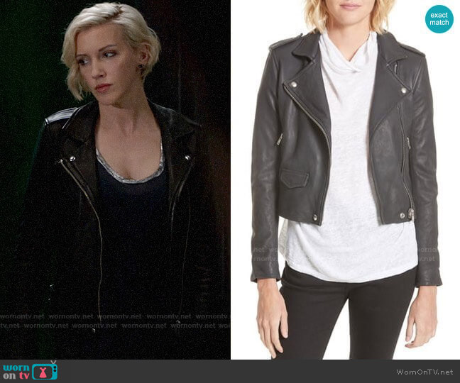 IRO Ashville Jacket worn by Laurel Lance (Katie Cassidy) on Arrow