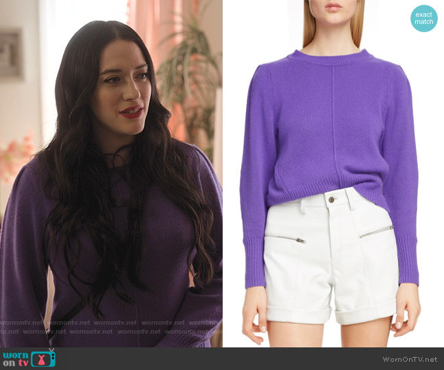 Puff Sleeve Cashmere Sweater by Isabel Marant worn by Jules Wiley (Kat Dennings) on Dollface