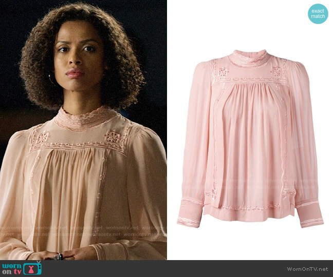 Isabel Marant Skara Blouse worn by Hannah Shoenfeld (Gugu Mbatha-Raw) on The Morning Show
