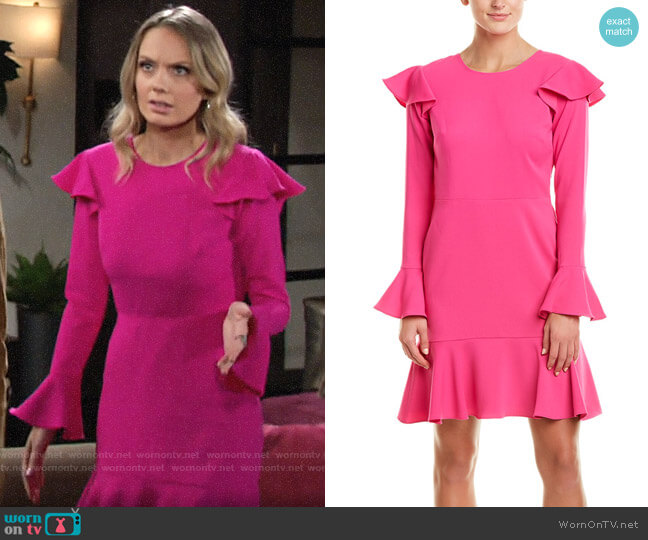 Jay Godfrey A-Line Dress worn by Abby Newman (Melissa Ordway) on The Young & the Restless