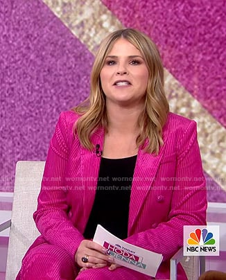 Jenna's pink corduroy suit on Today