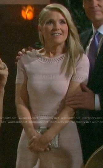 Jennifer's blush pink dress at Lani's wedding on Days of our Lives