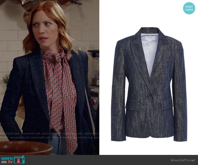 Joie Denim Blazer worn by Julia Bechley (Brittany Snow) on Almost Family