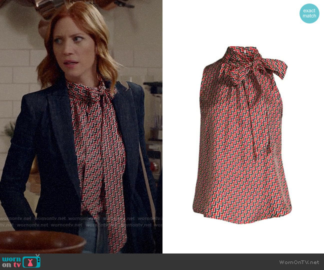 Joie Pascale Top in Big Apple worn by Julia Bechley (Brittany Snow) on Almost Family