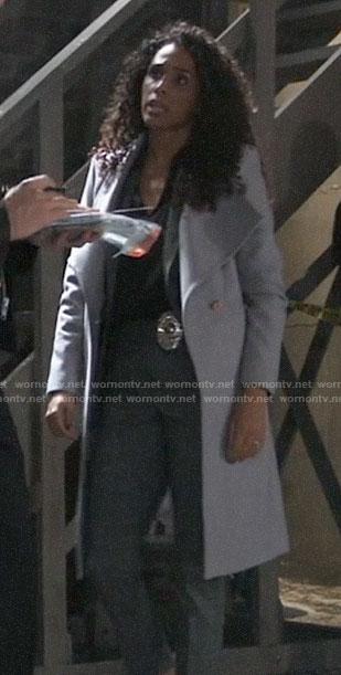 Jordan's grey coat on General Hospital
