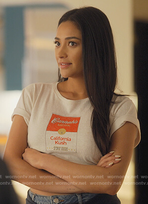 Stella's Cannabis Soup print tee on Dollface