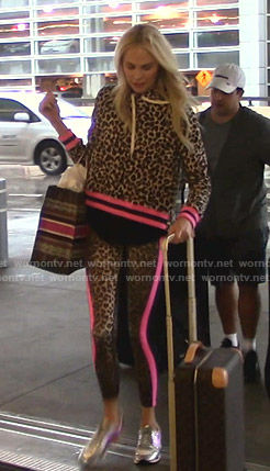 Kameron's leopard print hoodie and leggings on The Real Housewives of Dallas