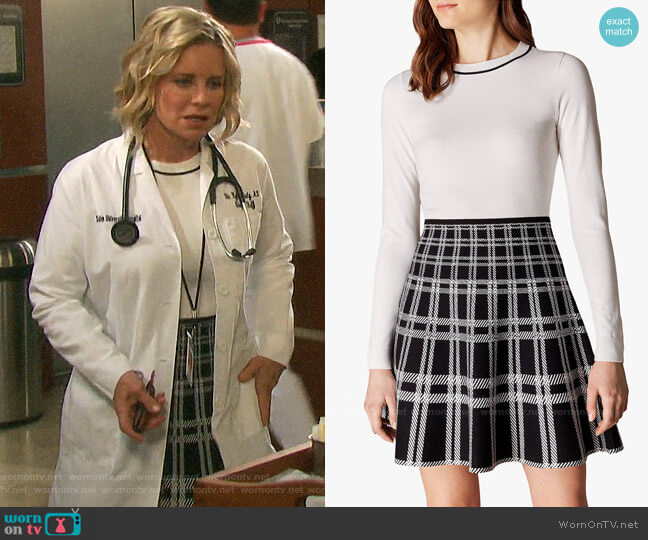Karen Millen Checked Skirt Dress worn by Kayla Brady (Mary Beth Evans) on Days of our Lives