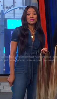 Keke's denim jumpsuit on GMA Strahan Sara And Keke