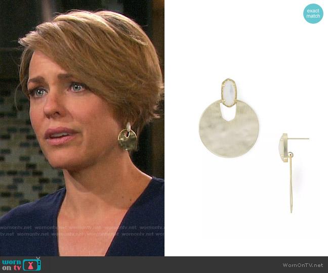 Kendra Scott Deena Earrings worn by Nicole Walker (Arianne Zucker) on Days of our Lives