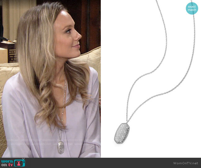 Kendra Scott Rae Necklace worn by Abby Newman (Melissa Ordway) on The Young & the Restless