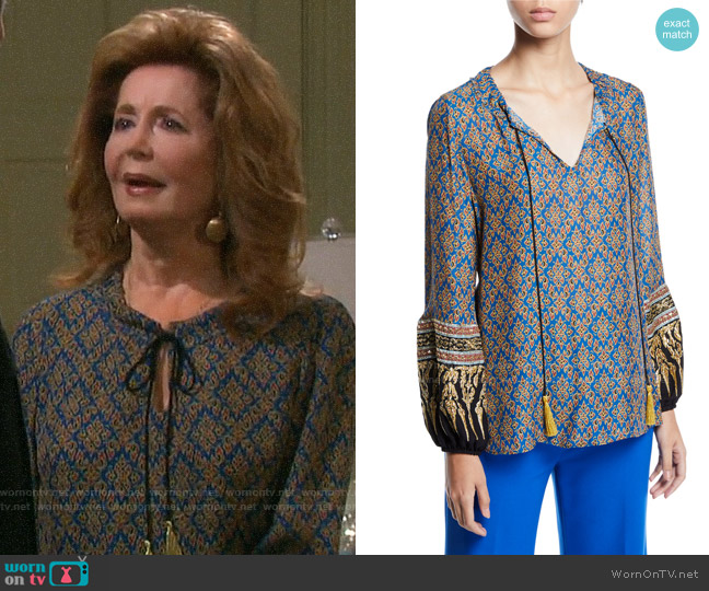 Kobi Halperin Sofia Blouse worn by Maggie Horton (Suzanne Rogers) on Days of our Lives