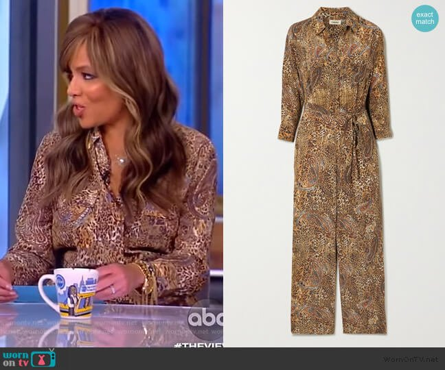 Teddy 3/4 Sleeve Jumpsuits by L'Agence worn by Sunny Hostin  on The View