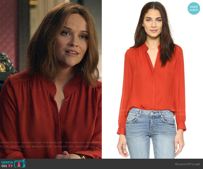 L'Agence Bianca Blouse worn by Bradley Jackson (Reese Witherspoon) on The Morning Show