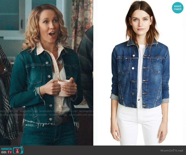 L'Agence Janelle Jacket worn by Ginny (Anna Camp) on Perfect Harmony