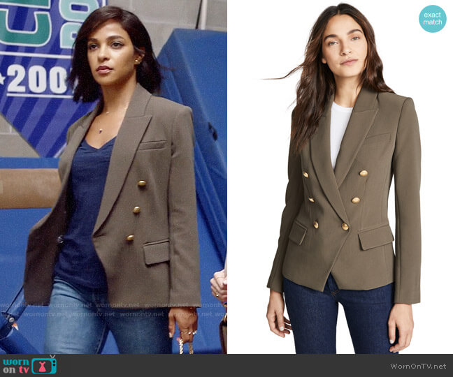 L'Agence Kenzie Blazer worn by Edie Palmer (Megalyn Echikunwoke) on Almost Family