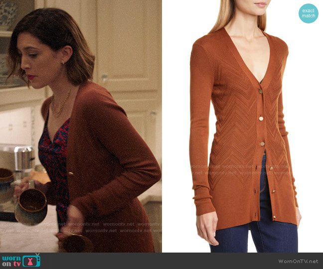 L'Agence Millie Cardigan worn by Sydney Strait (Caitlin McGee) on Bluff City Law