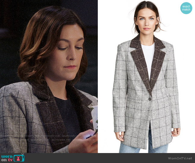 Laveer Colorblock Oversized Man Blazer worn by Sydney Strait (Caitlin McGee) on Bluff City Law
