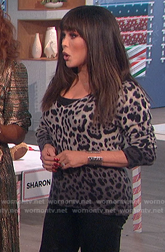 Marie's leopard ombre sweater on The Talk