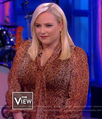 Meghan's leopard tie neck maxi dress on The View