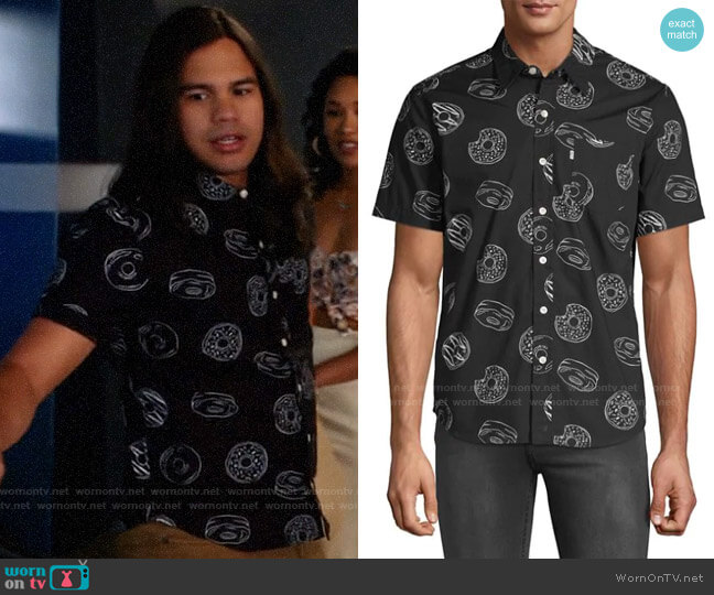 Levis Donut-Print Button-Down Shirt worn by Cisco Ramon (Carlos Valdes) on The Flash