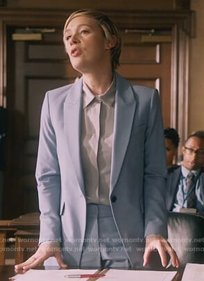 Bonnie's light blue blazer and pants on How to Get Away with Murder