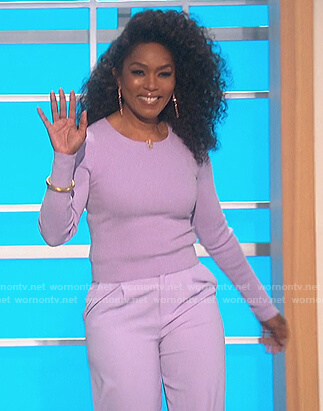 Angela Bassett's purple sweater on The Talk