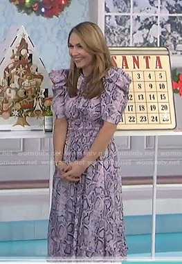 Lori Bergamotto's pink snake print dress on Today