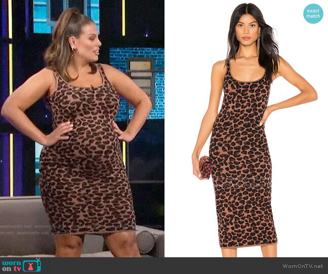 LPA Emelie Dress worn by Ashley Graham on A Little Late with Lilly Singh