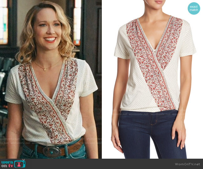 Lucky Brand Wildflower Surplice Top worn by Ginny (Anna Camp) on Perfect Harmony