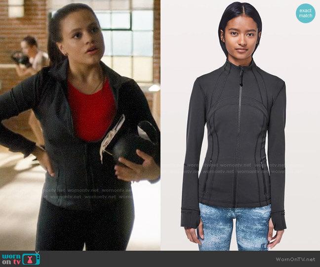 Lululemon Define Jacket in Deep Coal worn by Maggie Vera (Sarah Jeffery) on Charmed