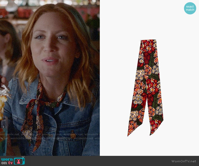 Madewell Silk Skinny Bandana worn by Julia Bechley (Brittany Snow) on Almost Family