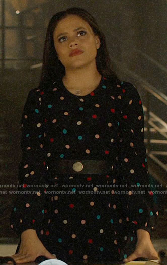 Maggie's polka dot dress on Charmed
