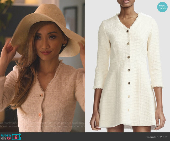Ryzer Dress by Maje worn by Madison Maxwell (Brenda Song) on Dollface