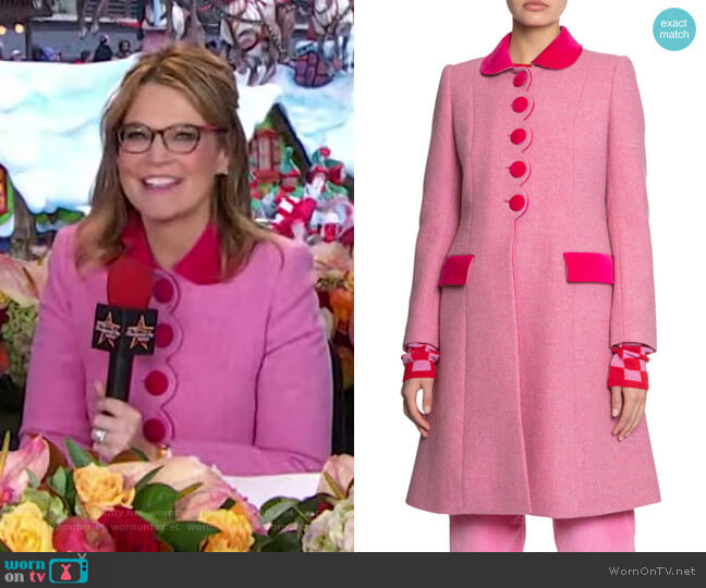 The Sunday Best Coat by Marc Jacobs worn by Savannah Guthrie  on Today