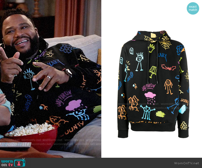 Marcelo Burlon Sketches hoodie worn by Andre Johnson (Anthony Anderson) on Blackish