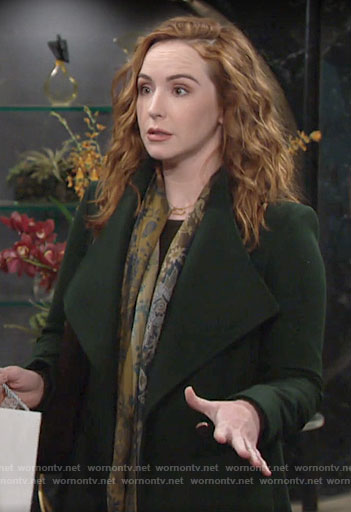 Mariah's green coat on The Young and the Restless