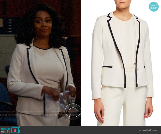 Max Mara Robert Blazer worn by Lola Carmichael (Simone Missick) on All Rise