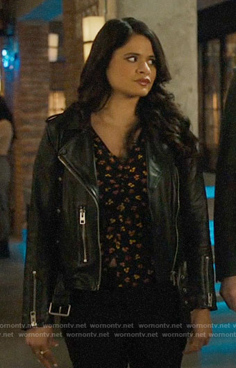 Mel's leather moto jacket on Charmed