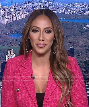 Melissa Gorga's pink tweed blazer on E! News Daily Pop