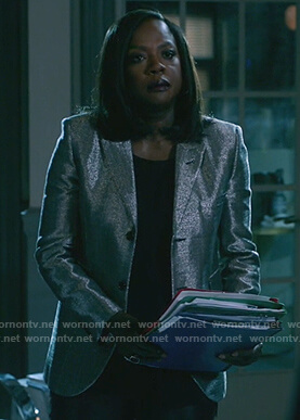 Annalise's metallic blazer on How to Get Away with Murder