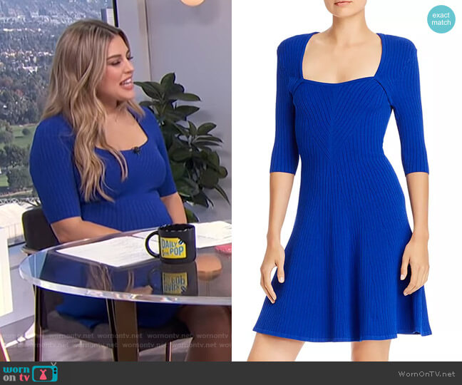 Ribbed Fit and Flare Dress by Milly worn by Carissa Loethen Culiner  on E! News