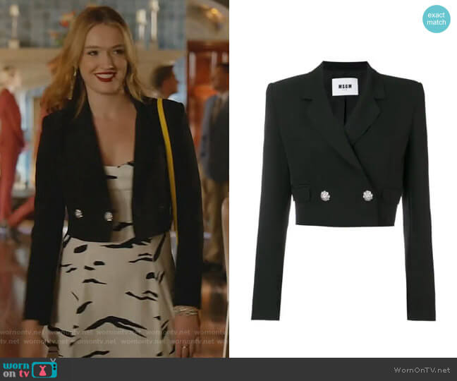 Cropped Blazer by MSGM worn by Kirby Anders (Maddison Brown) on Dynasty
